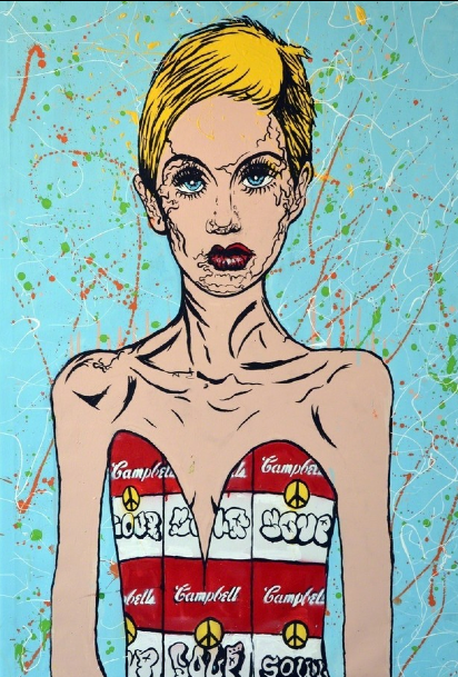 Twiggy Blue by Alec Monopoly