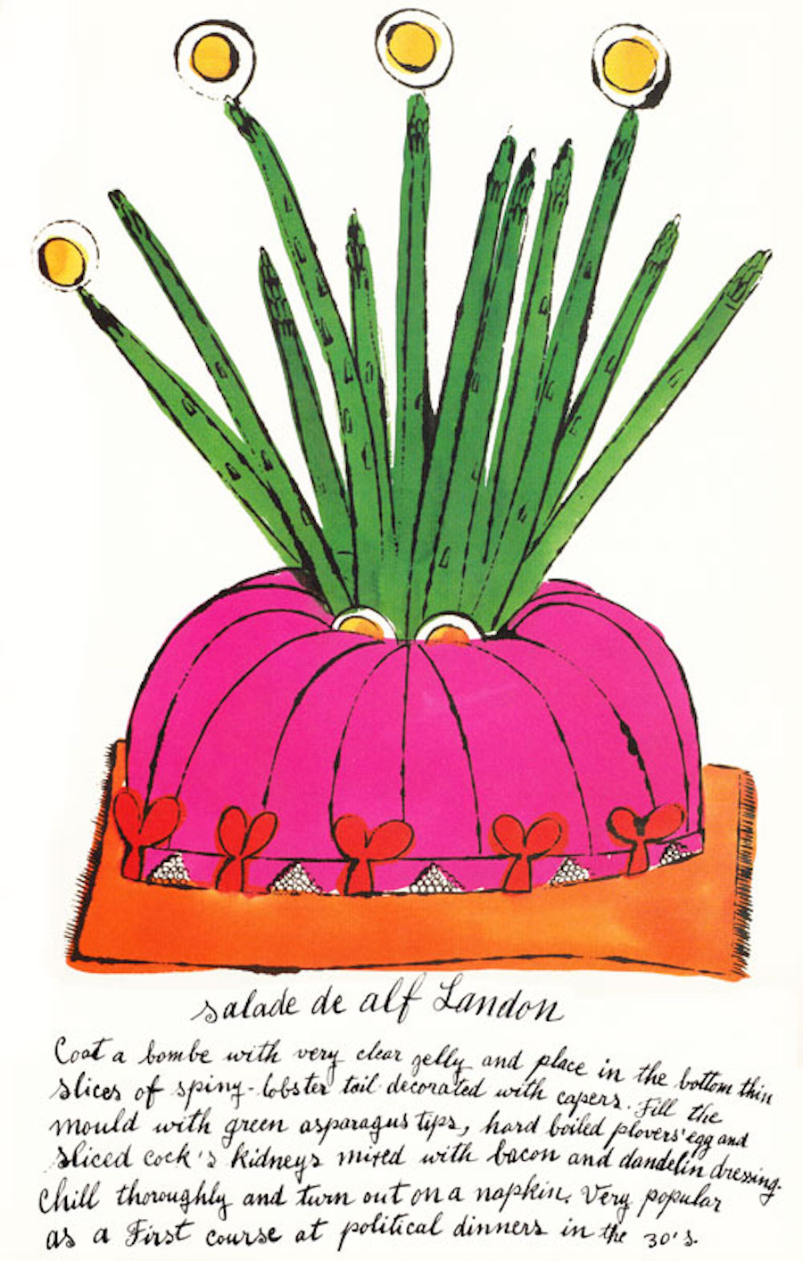 Salad de Alf Landon by Andy Warhol