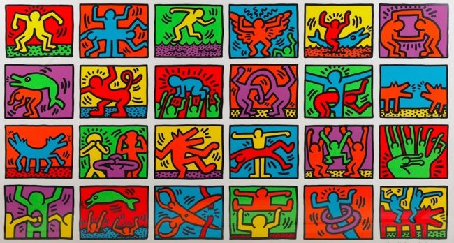 retrospect, keith haring, pop shop, pop art, Retrospect by Keith Haring