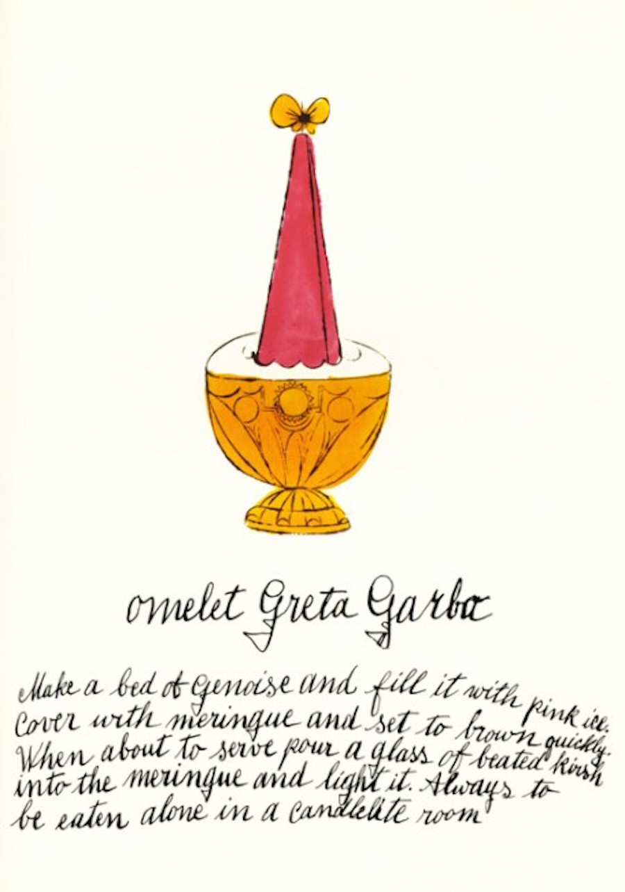 Omelet Greta Garbo by Andy Warhol