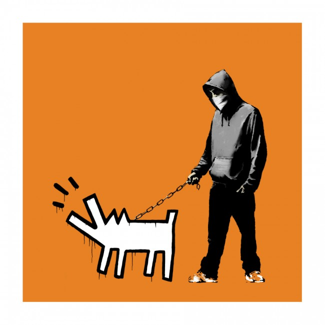 Choose Your Weapon by Banksy (Orange)