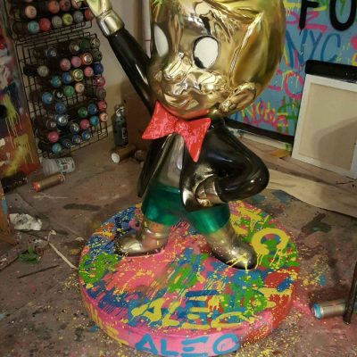 Richie Rich Dollars Sculpture by Alec Monopoly