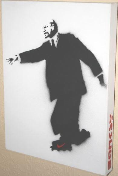 Lenin on Rollerblades by Banksy