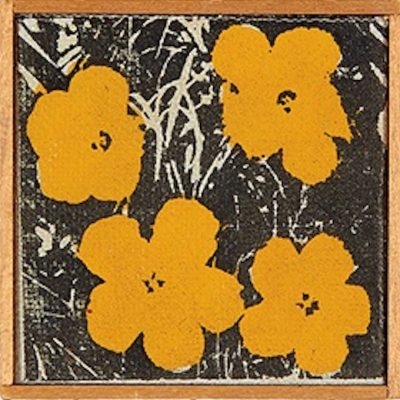 Andy Warhol Flowers Yellow by Richard Pettibone
