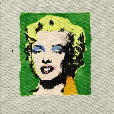 Marilyn on Green Background by Richard Pettibone