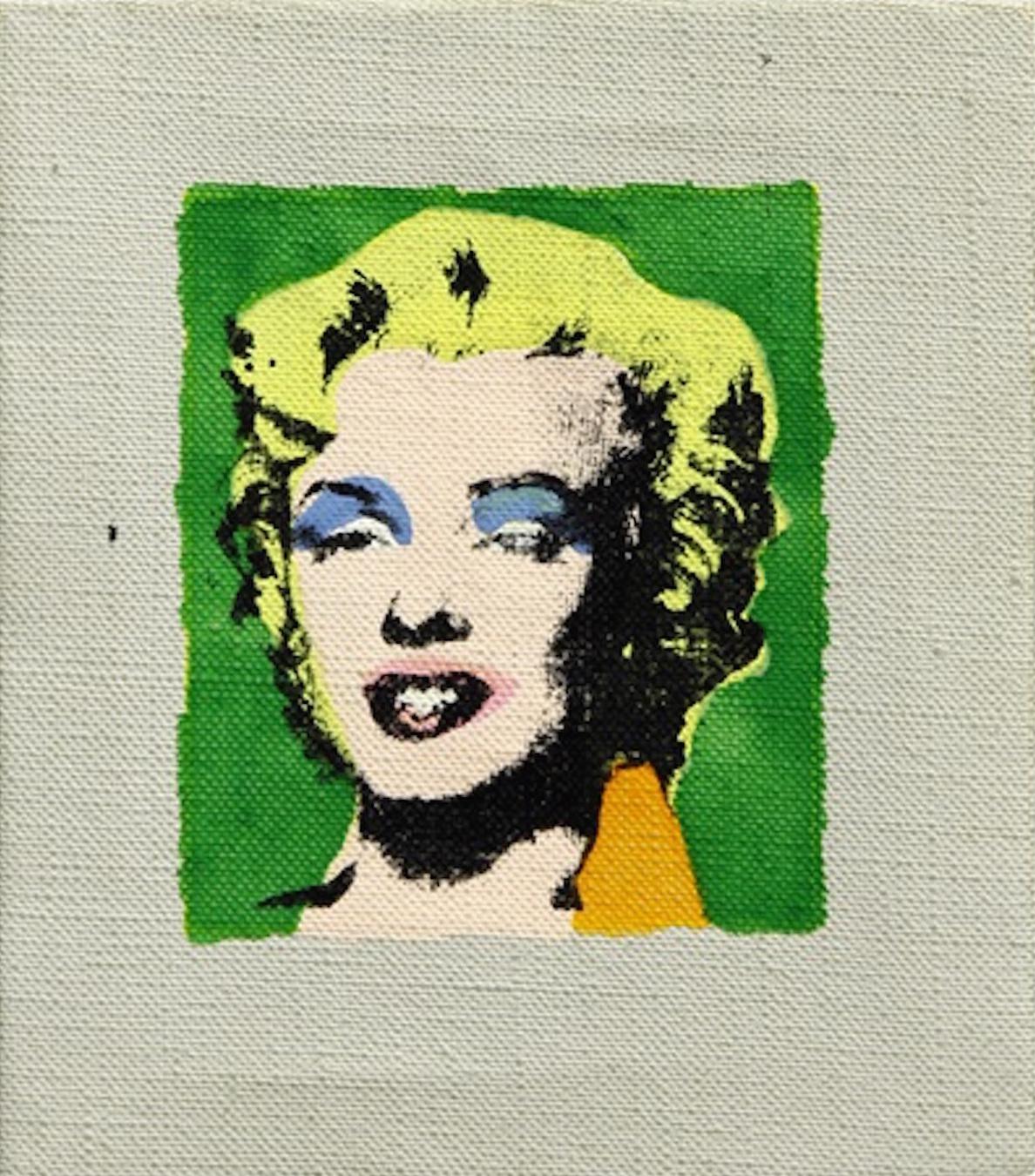 Marilyn on Green Background by Richard Pettibone