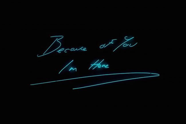 Because of You by Tracey Emin , Tracey Emin, Emin