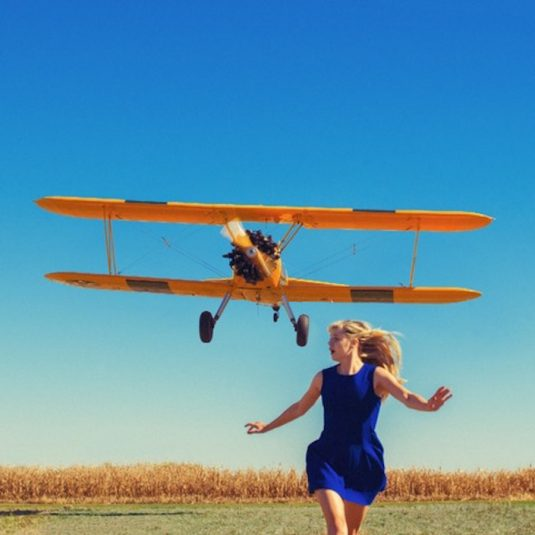shields, tylershields, Girl Running from Plane by Tyler Shields