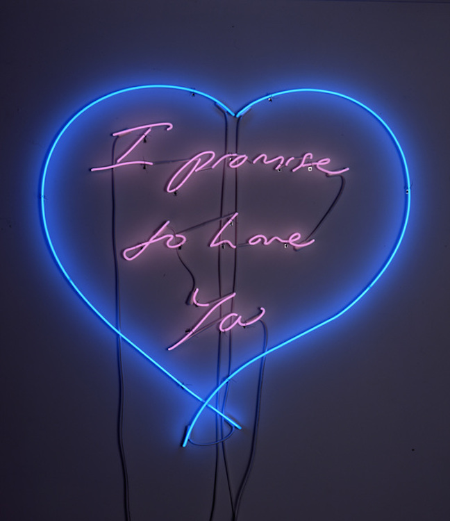 i promise to love you by tracey emin guy hepner
