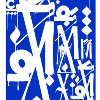 Retna Print Blue and White , Retna, Retna paintings, retna prints, graphic