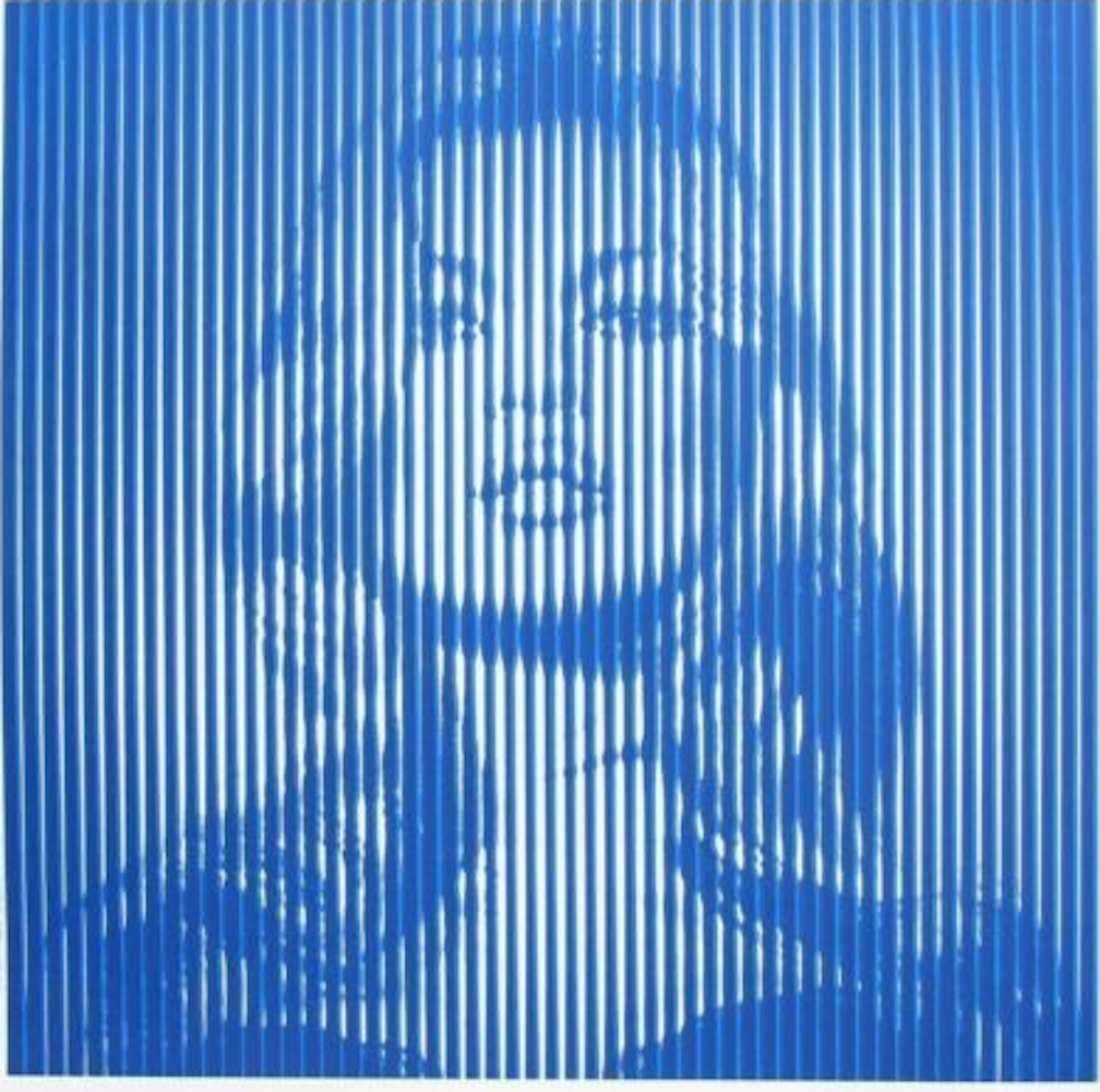Kate Moss Print by Mr.Brainwash (Blue)
