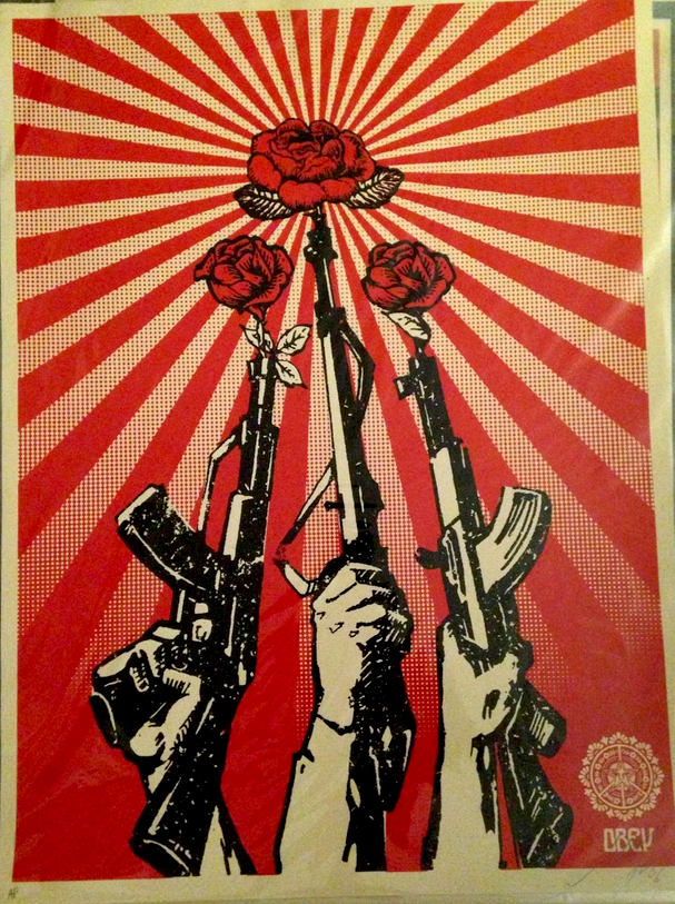 Obey Guns and Roses by Shepard Fairey