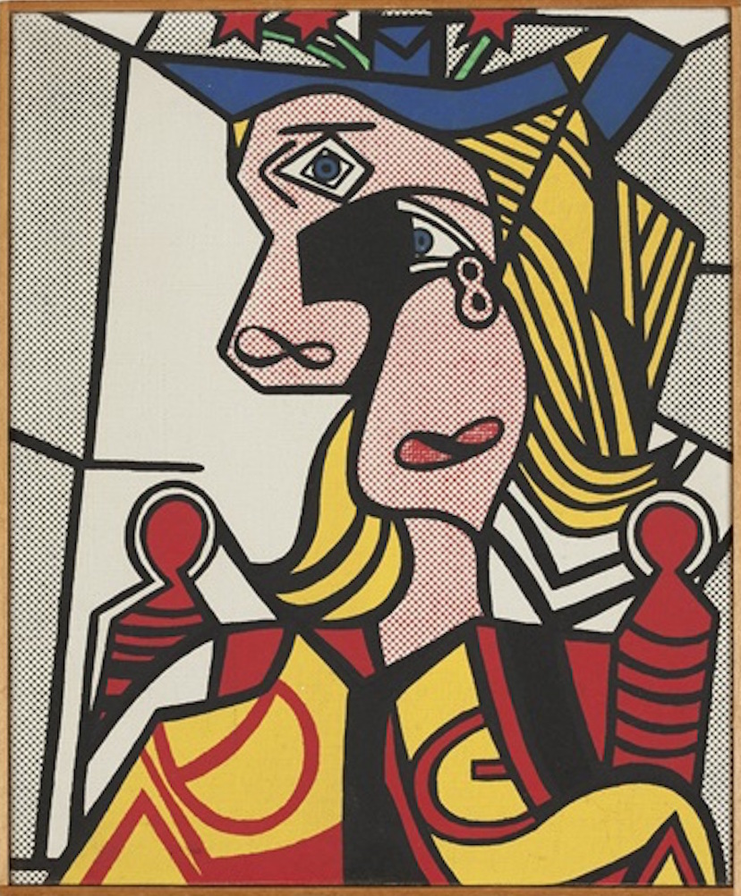 Woman with Flowered Hat by Richard Pettibone