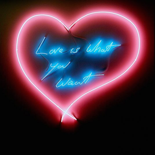 Tracey Emin emin, Love is What you Want by Tracy Emin