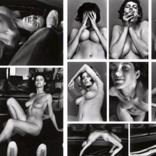 woman examining nude man