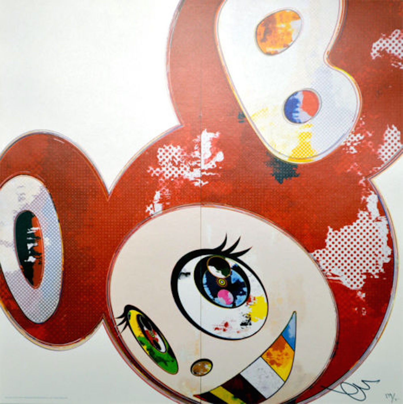 And then 3000 Red by Takashi Murakami