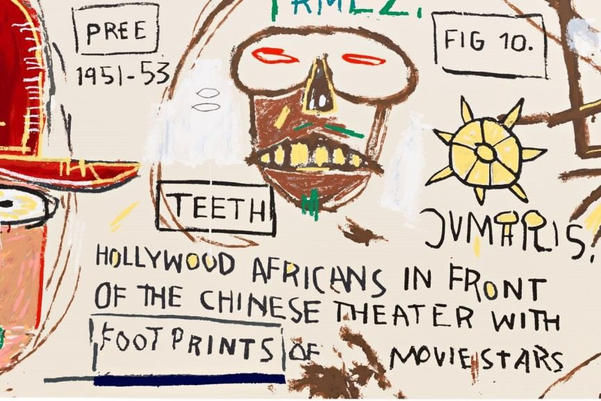 Hollywood Africans in front of the Chinese Theater with Footprints of Movie Stars by Jean Michel Basquiat