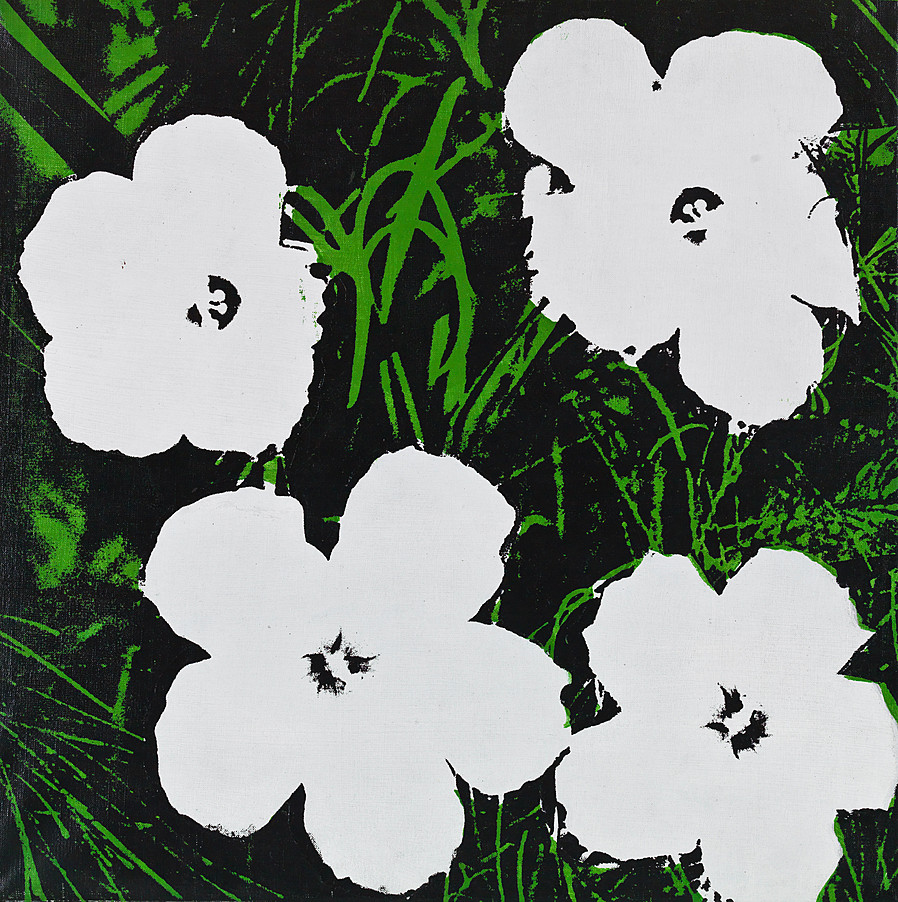 24 inch white flower painting andy warhol guy hepner 24 inch white flower painting andy warhol mightylinksfo