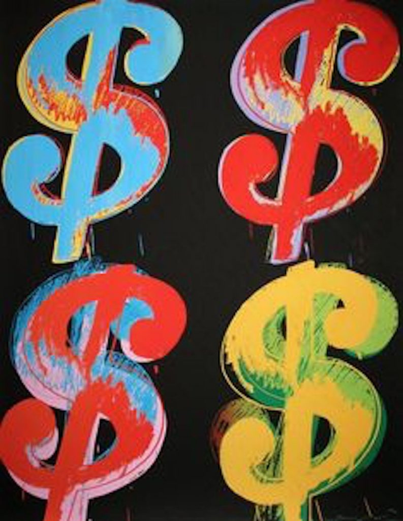 Dollar Sign, 4, Andy Warhol
