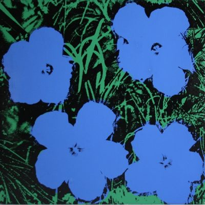 24 Inch, Flowers ,Blue, Andy Warholl