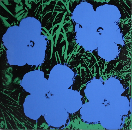 24 Inch Flowers Blue by Andy Warholl