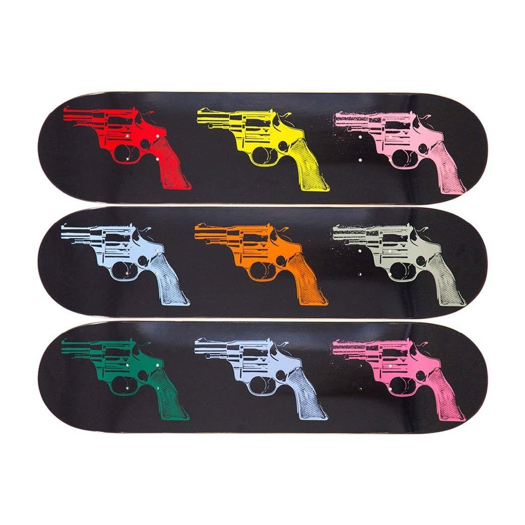 Andy Warhol Skateboard Decks Guns