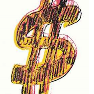Dollar Sign, Yellow, Andy Warhol