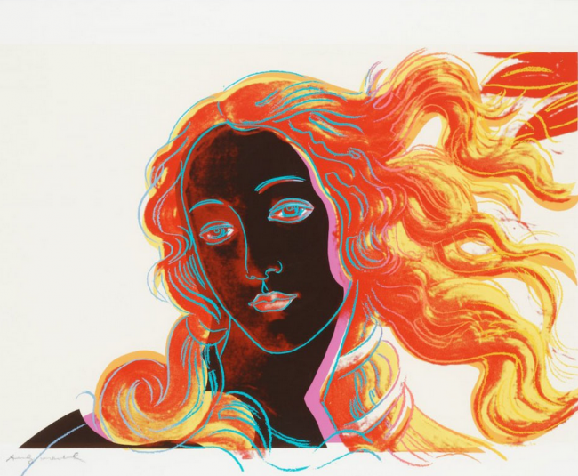 andy warhol, pop art, andy warhol birth of venus