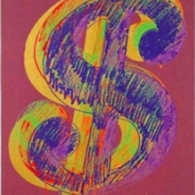 Single, Dollar Sign, Andy Warhol