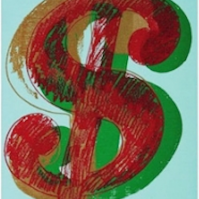 Single, Dollar Sign, Andy Warhol, Red