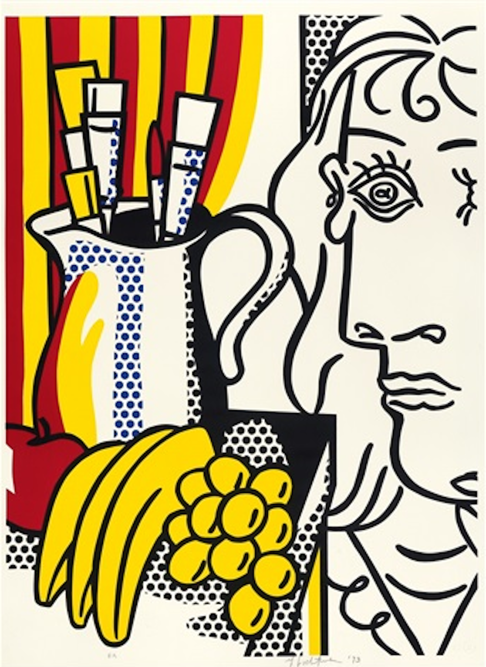 Still live with Picasso by Roy Lichtenstein