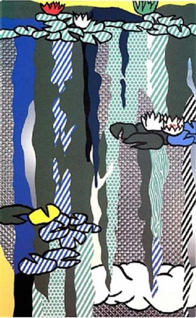 Water Lilies with Cloud, Roy Lichtenstein