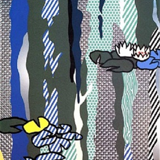 Water Lilies with Cloud, Roy Lichtenstein
