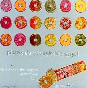 Lifesavers Ad Trial Proof by Andy Warhol