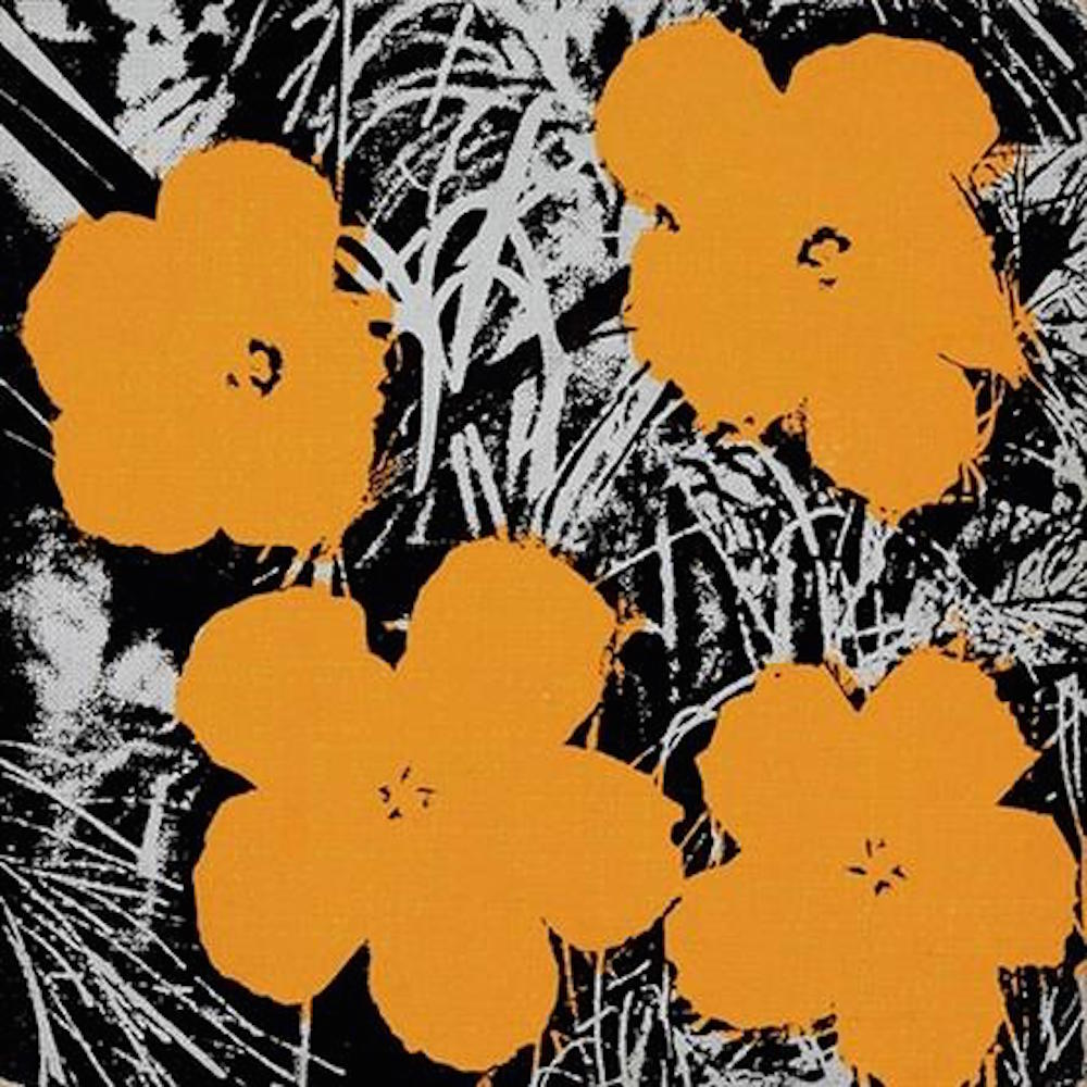 8 Inch Orange Flower Painting Andy Warhol - Guy Hepner