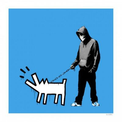 Banksy, Choose Your Weapon, sky Blue