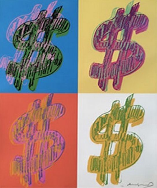 Dollar Sign, Quad, Andy Warhol
