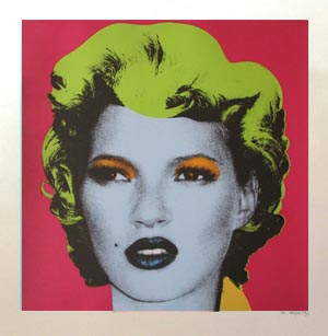 Red, Kate Moss, Banksy