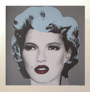 Grey, Kate Moss, Banksy