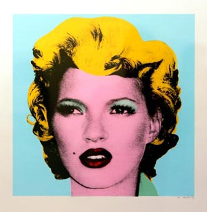 Blue, Kate Moss, Banksy