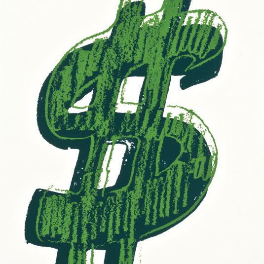 Single Dollar Sign, Green, Andy Warhol