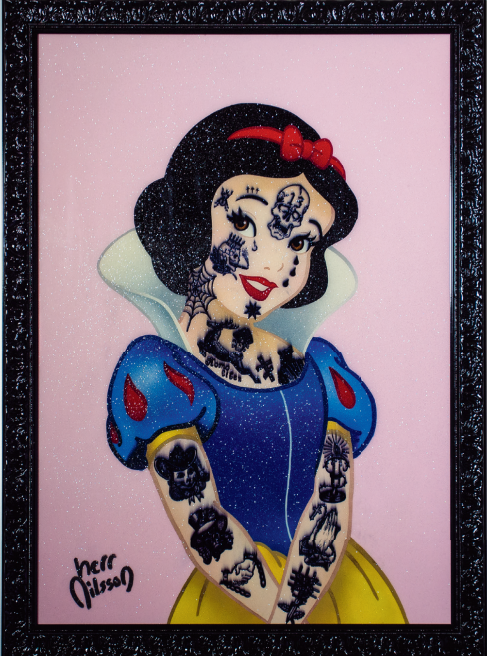 Snow White with russian prison tattoos by Herr Nilsson