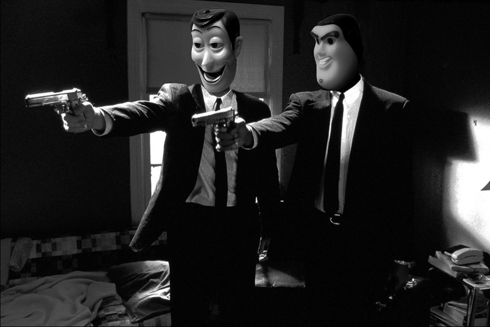 Pulp Toy Fiction Story B&W by Santlov