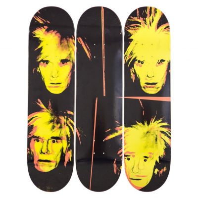Andy Warhol ,Skateboard Decks, Self Portrait