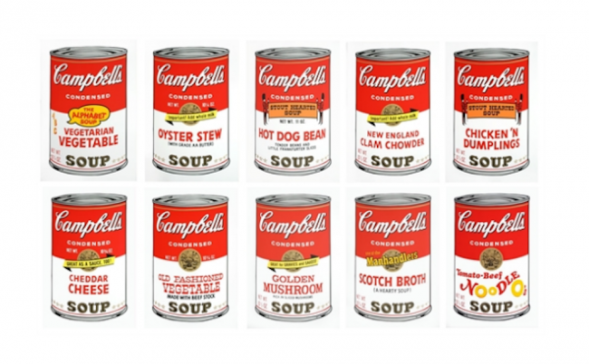 Campbell's Soup Sunday B Morning, afterwarhol, classic marilyn, mailyn monroe, soup cans, pop art , warholl