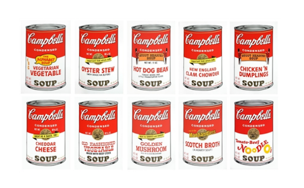 Andy Warhol Soup Cans Painting