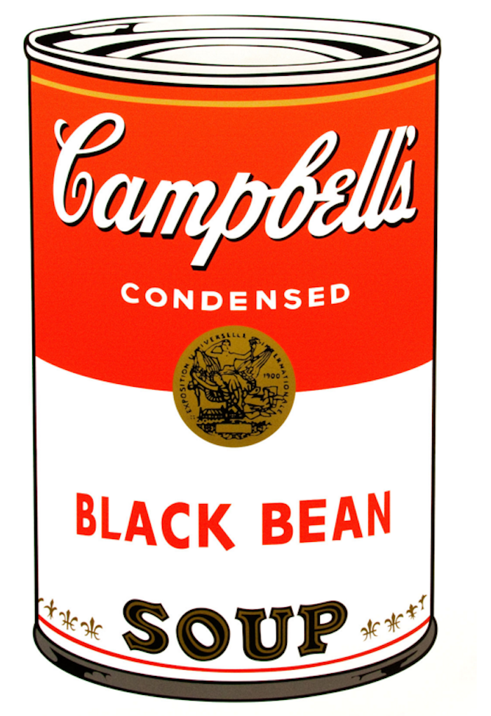Campbells Black Bean Soup Can by Andy Warhol