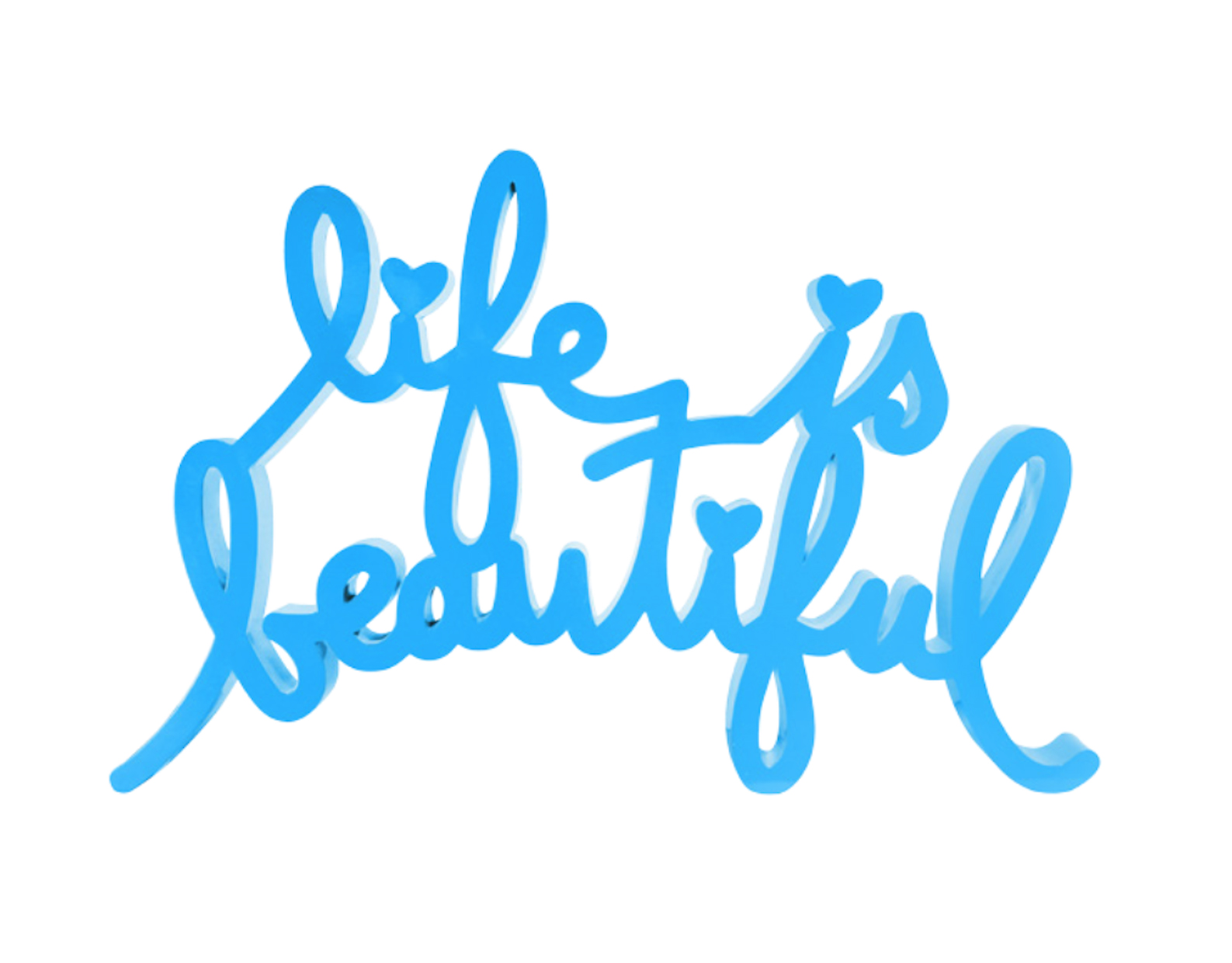 Life Is Beautiful Blue By Mr. Brainwash