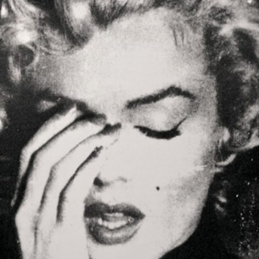 Marilyn Crying B&W, Russell Young