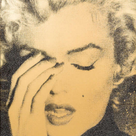 Marilyn Crying gold, Russell Young